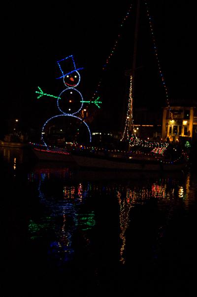 Lightedboat